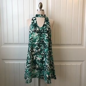 Lulu's Palm Leaf Trapeze Dress